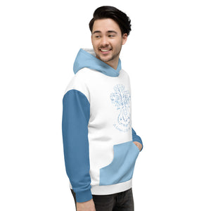 Allno A League Like No Other Argyle Hoodie - Carolina Blue & Powder Blue