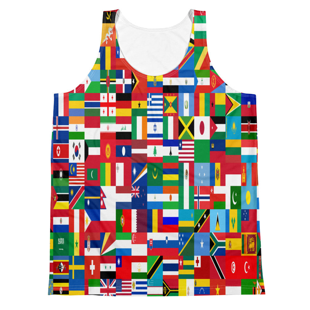 Allno World Countries Unified Men's Tank Top