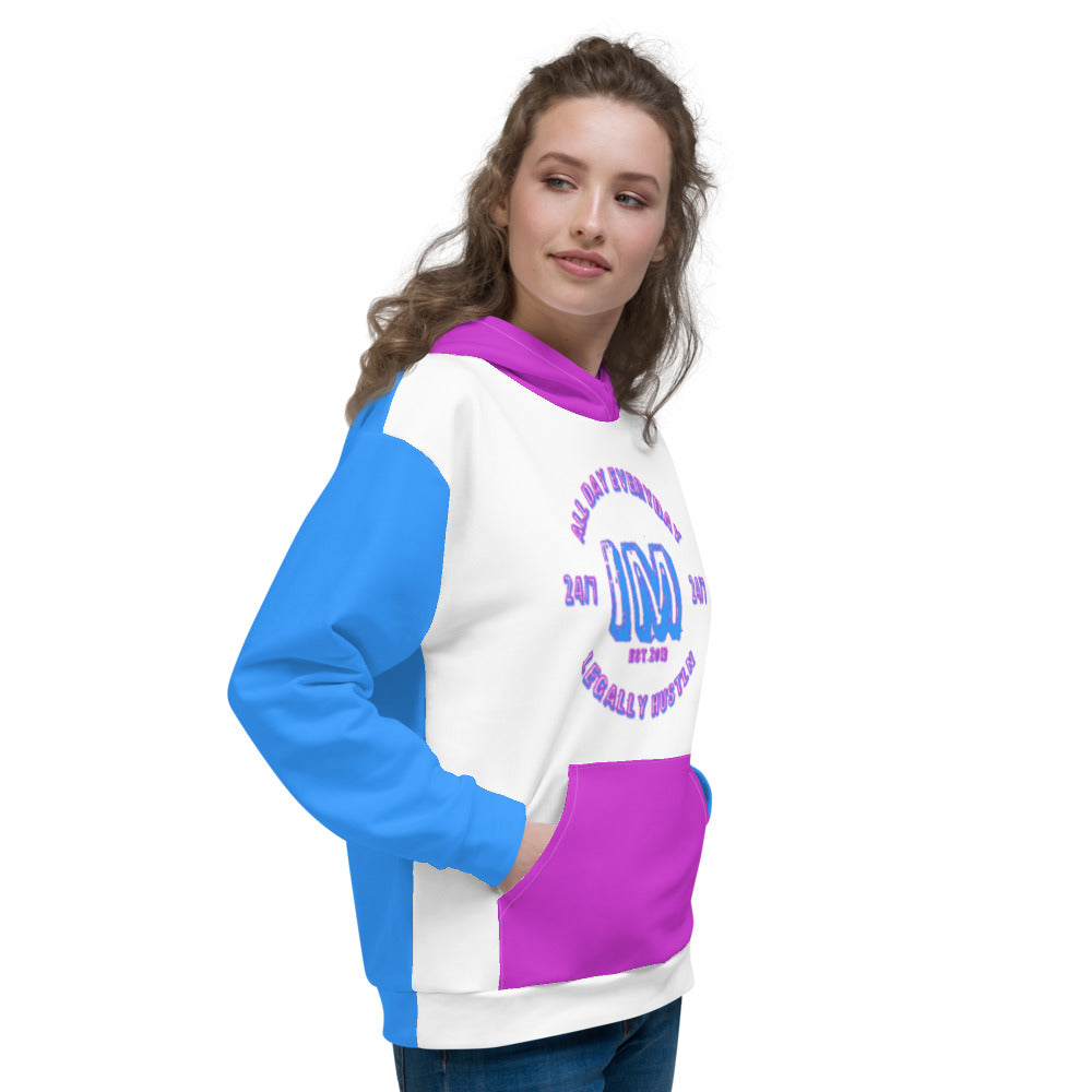 Allno Legally Hustln Hoodie - Blue & Purple