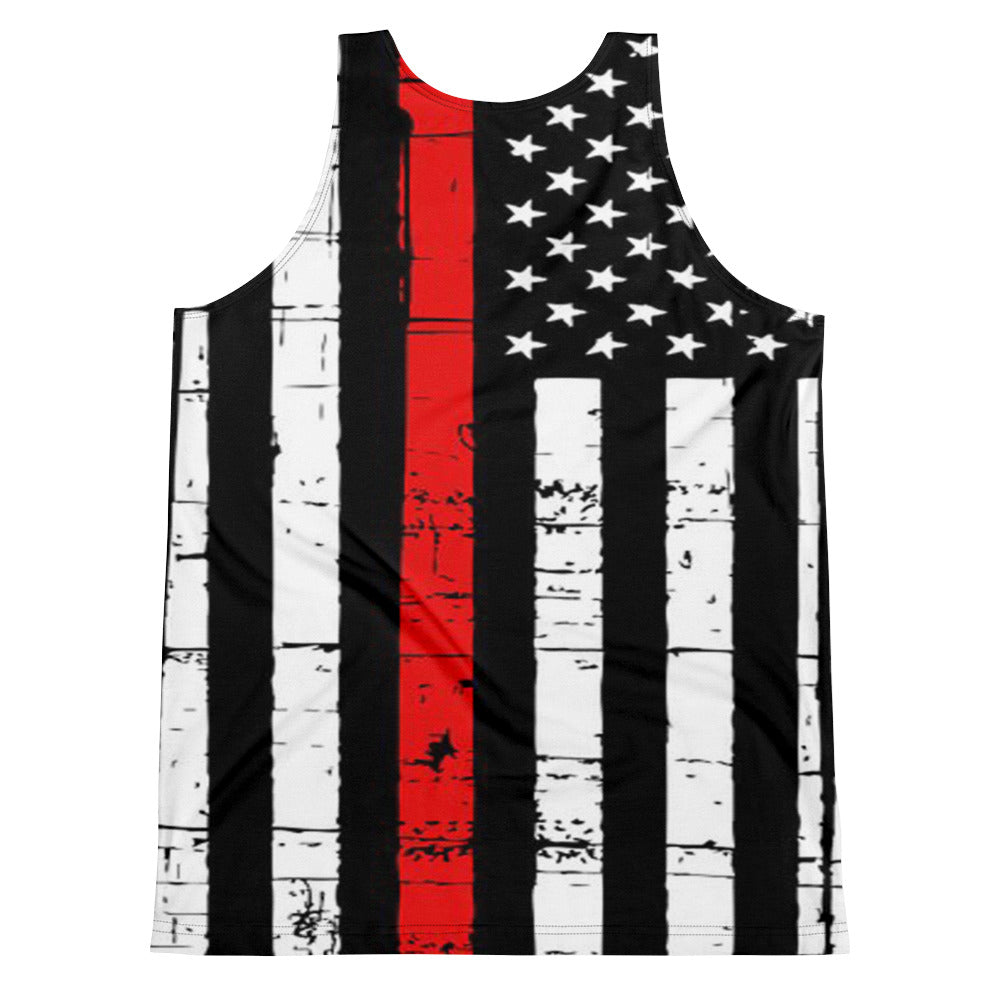 Allno Stars and Stripes Firefighter Men's Tank Top