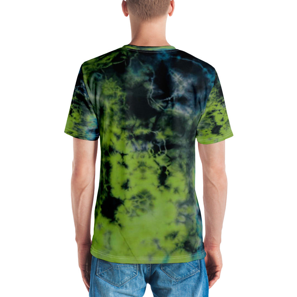 Allno Blue Lime Tie Dye Men's Tee