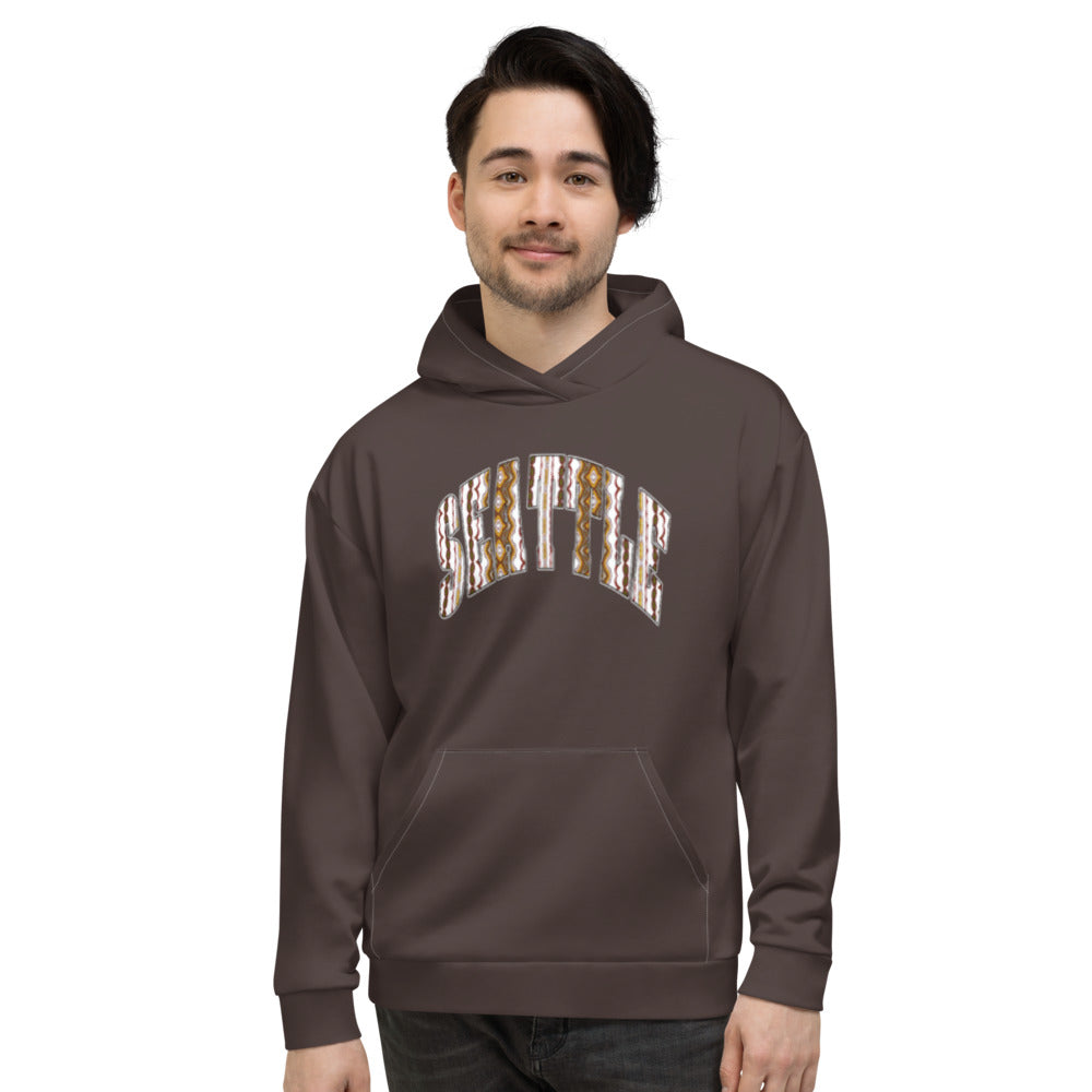 Allno Seattle Patterned Hoodie - Brown