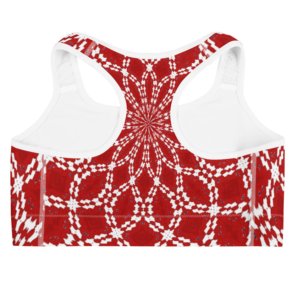 Allno Red Leg Sports Bra