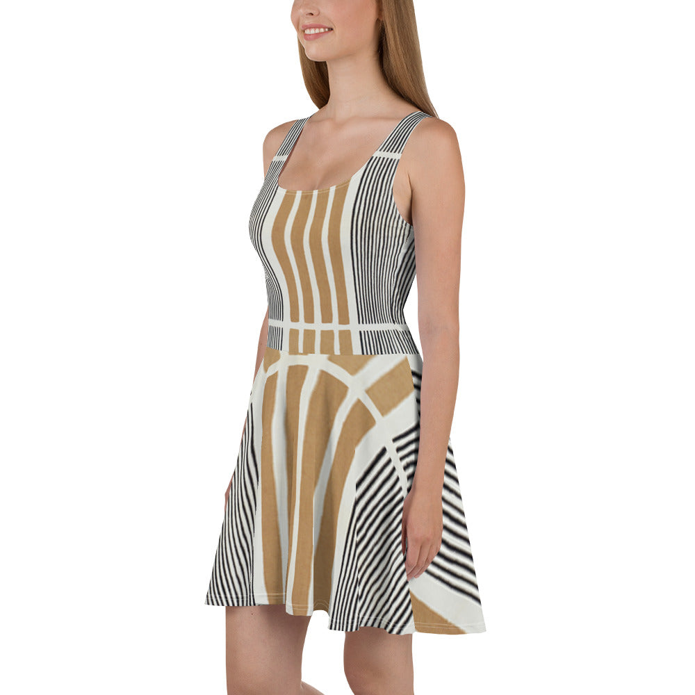 Allno Patricia Safari Skater Dress