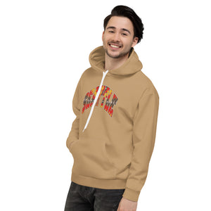 Allno Seattle Patterned Hoodie - Golden Bronze