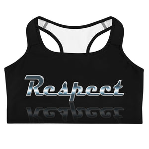 Allno Meaningful Words Respect Sports Bra