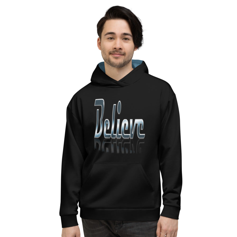 Allno Meaningful Words Believe Hoodie
