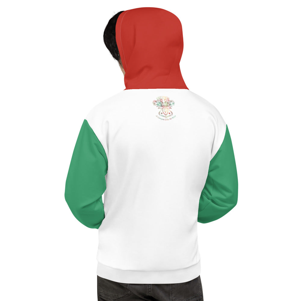 Allno A League Like No Other Argyle Hoodie - Green & Orange Red