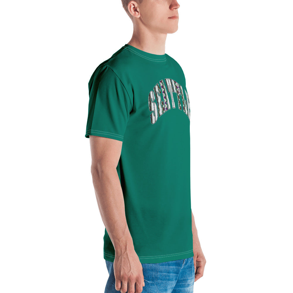 Allno Seattle Patterned Men's Tee - Kelly