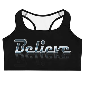 Allno Meaningful Words Believe Sports Bra