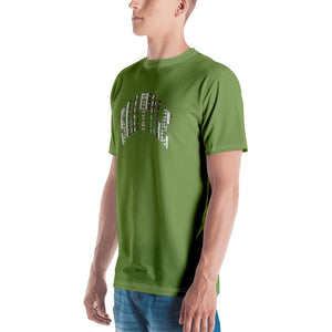 Allno Seattle Patterned Men's Tee - Citrus