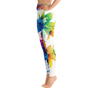 Allno Painted Butterflies & flowers Leggings