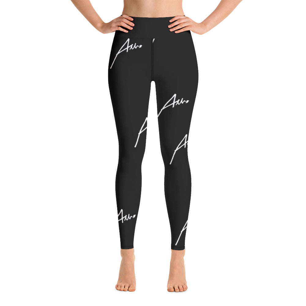 Allno All-Over Signature Stitch Leggings - Black