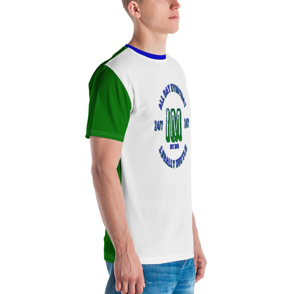 Allno Legally Hustln Men's Tee- Green & Blue