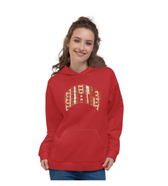 Allno Seattle Patterned Hoodie - Red