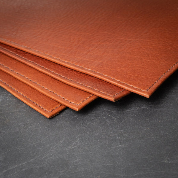 "Handcrafted Leather Placemats - 14""x20"""