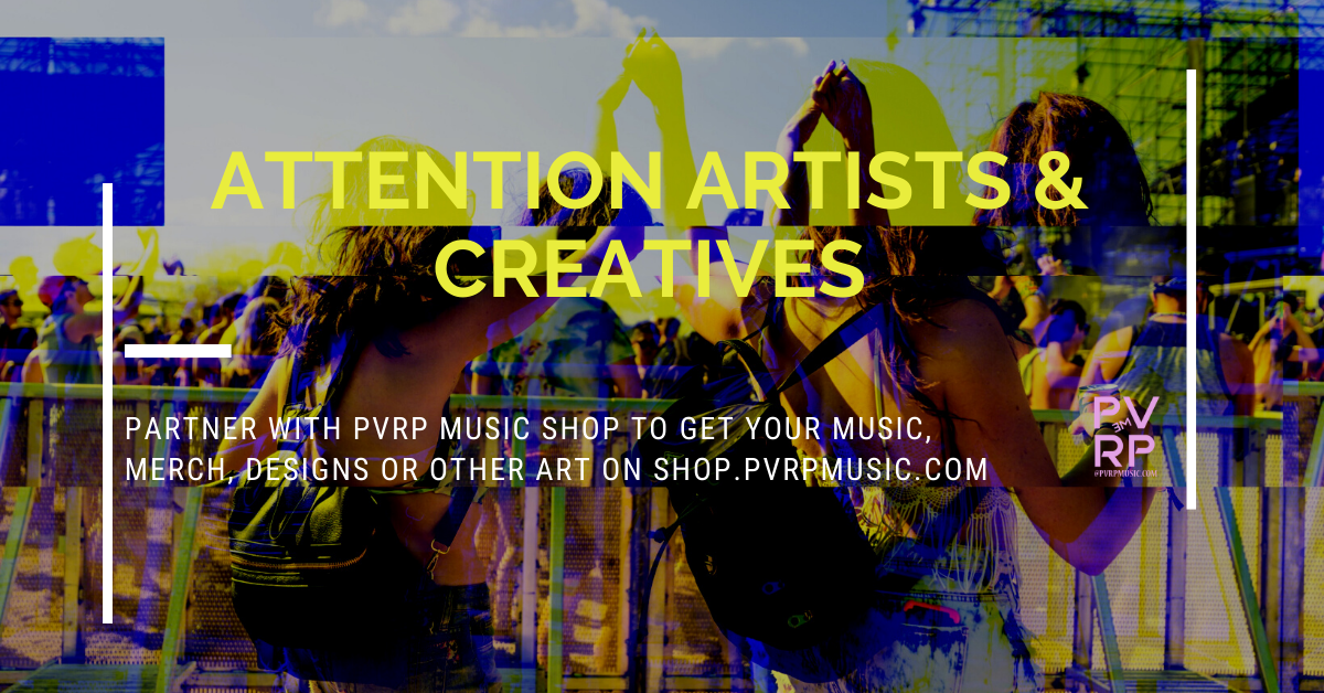 sell your music merch on pvrp shop