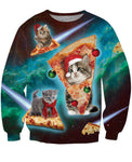 Meowy Christmas Crewneck Sweatshirt-PVRP Shop