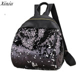 Mochila Feminina Backpack Women Double Color shiny-PVRP Shop