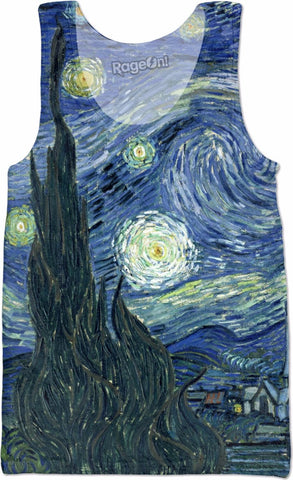 Starry Night Sleeveless Shirt Mens Tank - PVRP Shop