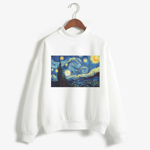 Van Gogh Art Women Sweatshirt-PVRP Shop
