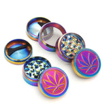 Rainbow Herb Metal Grinder 40mm with Pollen Catcher-PVRP Shop
