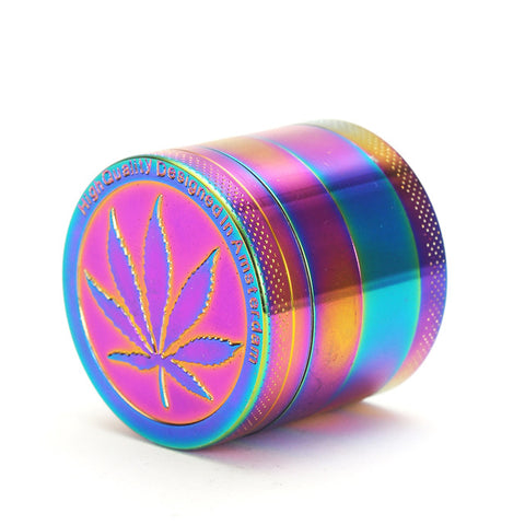 Rainbow Herb Metal Grinder 40mm with Pollen Catcher - PVRP Shop