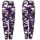 Women Camo Cargo High Waist Trousers - PVRP Shop