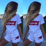 Love Printed Short-Sleeved Women's T-Shirt - PVRP Shop