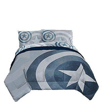 Captain America Marvel Adults Full Size Duvet Cover Set 3 pc - Duvet Cover with 2 Pillowcases | My Hero Booth