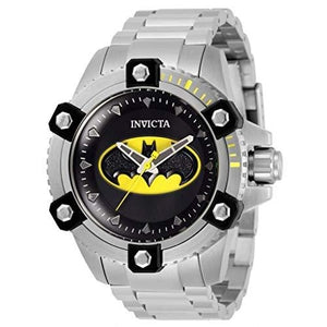 Invicta Men's DC Comics 48mm Arsenal Batman Limited Edition Quartz Stainless Steel Bracelet Watch : My Hero Booth