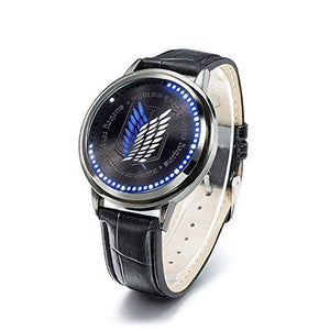 Wildforlife Anime Attack on Titan Survey Corps Collector's Edition Touch LED Watch | My Hero Booth