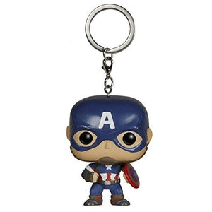 Funko Pocket POP Keychain: Marvel - Avengers 2 - Cap America Action Figure : My Hero Booth