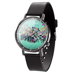 My Hero Academia MHA Black Wrist Watch Izuku Midoriya Quartz Watch for Men Women(Style 4) : My Hero Booth