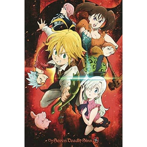 The Seven Deadly Sins - Manga Series - Anime Poster 24in x 36in : My Hero Booth