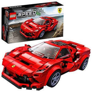 LEGO Speed Champions 76895 Ferrari F8 Tributo Toy Cars for Kids, Building Kit Featuring Minifigure, New 2020 (275 Pieces) | My Hero Booth