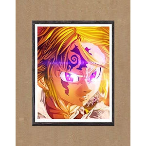 Seven Deadly Sins Dragon Sins of Wrath Meliodas Lord of Demon Fabric Canvas Art Prints,8 x 10 Inches,No Frame : My Hero Booth