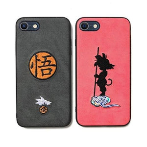 Dragon Ball : iPhone 11 (6.1inch) Case, 2-Pack Japanese Characters Dragon Ball Super Son Goku Embroidery Soft TPU Cell Phone Cover for iPhone 11 Only (6.1 inch) | My Hero Booth