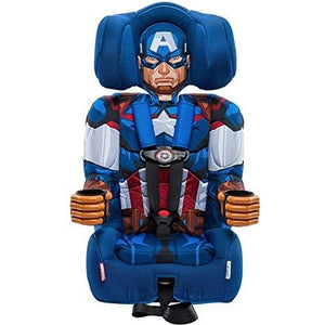 KidsEmbrace 2-in-1 Harness Booster Car Seat, Marvel Avengers Captain America-My Hero Booth