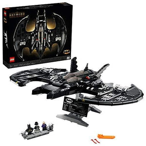 LEGO DC Batman 1989 Batwing 76161 Displayable Model with a Buildable Vehicle and Collectible Figures: Batman, The Joker – Mime Version and Lawrence The Boombox Goon, New 2021 (2,363 Pieces) | My Hero Booth