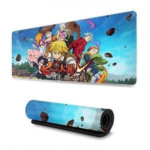 The Seven Deadly Sins Custom Gaming Mouse Pad Anime Mouse Mat Desk Pad 11.8x31.4x0.12inch for Game Players, Office, Study : My Hero Booth