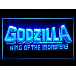 Godzilla King of The Monsters Bar Led Light Sign : My Hero Booth