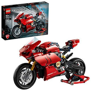 LEGO Technic Ducati Panigale V4 R 42107 Motorcycle Toy Building Kit, Build A Model Motorcycle, Featuring Gearbox and Suspension, New 2020 (646 Pieces), | My Hero Booth