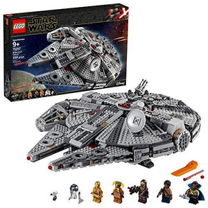 LEGO Star Wars: The Rise of Skywalker Millennium Falcon 75257 Starship Model Building Kit and Minifigures (1,351 Pieces) | My Hero Booth
