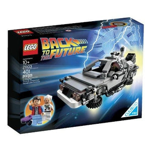 LEGO The DeLorean Time Machine Building Set 21103 (Discontinued by manufacturer) | My Hero Booth