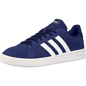 adidas mens Grand Court Sneaker, Dark Blue/White/Cloud White | My Hero Booth