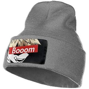BaKuGou Outdoor Hat Knitted Hat Warm Beanie Caps for Men Women Deep Heather | My Hero Booth