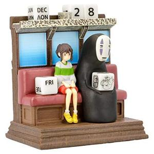 Benelic Spirited Away Riding The Railway Perpetual Calendar - Official Studio Ghibli Merchandise-My Hero Booth