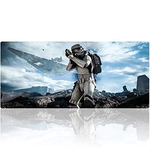 Beymemat XXL Large Gaming Mouse Pad (35.4x15.7 in), Non-Slip Rubber Base Mousepad with Stitched Edges for Work & Game (90x40 Star wars013) : My Hero Booth