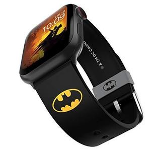 DC Comics - Batman Icon Edition – Officially Licensed Silicone Smartwatch Band Compatible with Apple Watch, Fits 38mm, 40mm, 42mm and 44mm : My Hero Booth